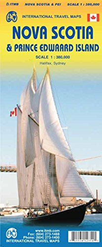 Nova Scotia / PEI Travel Maps 1 : 380 000: Prince Edwaard Island