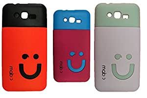 Combo of 3 Micromax A67 Compatible Soft Smiley Back Cover
