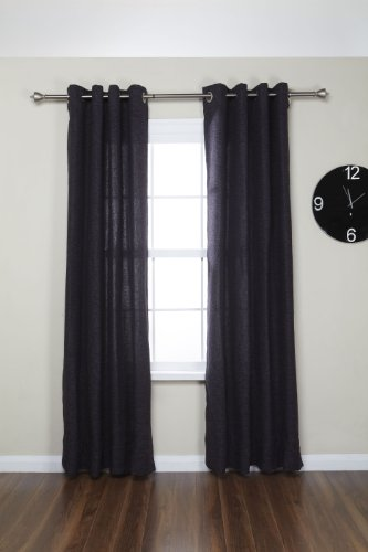 Umbra aristotle 1 inch drapery rod for window 120 to 170 for 120 inch window treatments
