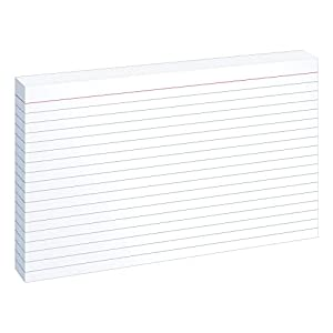 Oxford Ruled Index Cards, 5 x 8 Inches, White, 100 Cards per Pack (51)