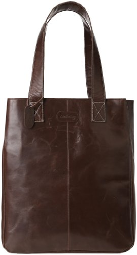 Leatherbay Shopping Leather Tote,Dark Brown,one size