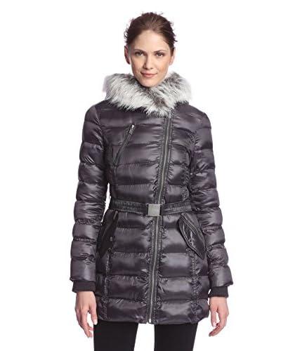 Rachel Rachel Roy Women's Moto Hooded Puffer Coat