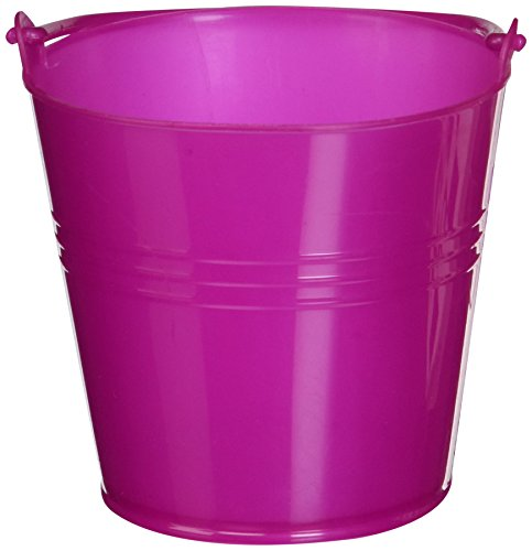 Fun Express Bright Hot Pink Plastic Pails (1 Dozen) - 1