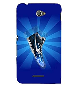 EPICCASE Shiny Sneakers Mobile Back Case Cover For Sony Xperia E4 (Designer Case)