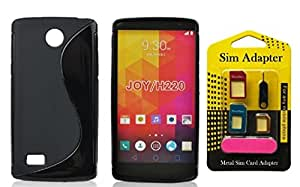Wellmart Grip Back Cover For LG Joy Combo Offer Free 5 In 1 Metal Sim Card Adapter