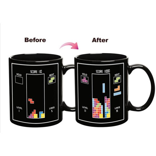 Tetris The Heat Change Mug Perfect Gift For Tetris Fans Color Changing Mugs Ceramic Mug
