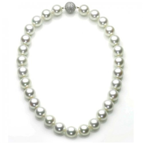 Bling Jewelry Great Gatsby Inspired South Sea Shell White Pearl Bridal Necklace