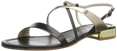 Högl shoe fashion GmbH 7-102121-01750 7-102121-01750 Damen Sandalen, Mehrfarbig (schwarz/platin 175), EU 41.5 (UK 7.5)