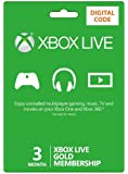 Xbox LIVE 3 Month Gold Membership (Xbox One/360) [Xbox Live Online Code]
