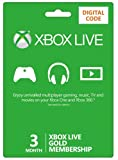Xbox LIVE 3 Month Gold Membership  (Xbox One/360) [Online Game Code]