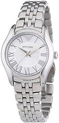 Emporio Armani Valente Silver Dial Stainless Steel Ladies Watch AR1716
