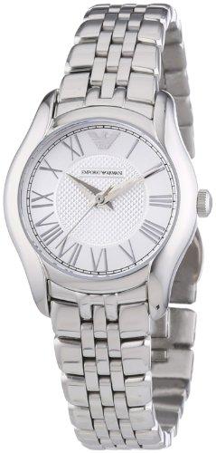 Emporio Armani  0 - Reloj de cuarzo para mujer, con correa de acero inoxidable, color plateado