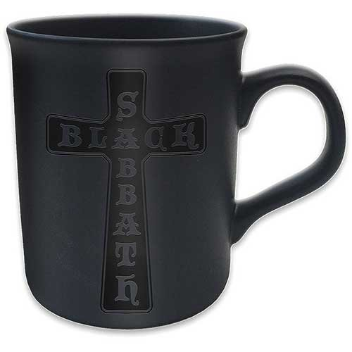Black Sabbath Croce Matt tazza Gloss Stampa Scrittura Premium Deluxe Boxed caffe regalo tazza ufficiale merchandising