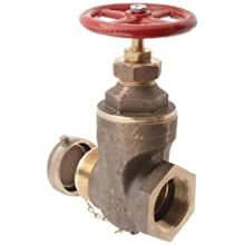 "Dixon RWDGV250F Brass Wedge Disc Gate Valves, 2-1/2"" NPT Female x NST Male"