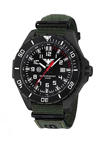 KHS Tactical orologio uomo Landleader Black Steel KHS.LANBS.NXTO1