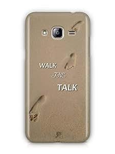 YuBingo Walk the Talk Mobile Case Back Cover for Samsung Galaxy J3 2016