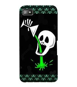 ColourCraft Funny Skull Design Back Case Cover for BLACKBERRY Z10