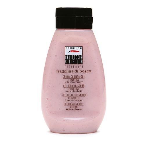 Aquolina Bath & Body Shower Gel Scrub (Beauty.com Exclusive), Wild Strawberry 10.14 fl oz (300 ml)