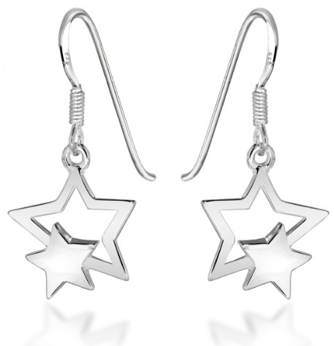 tuscany-silver-sterling-silver-double-star-drop-earrings