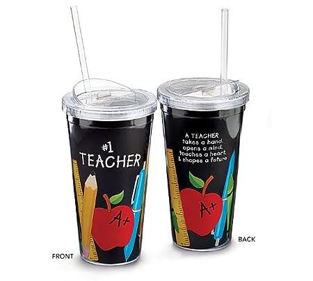 #1 Teacher Appreciation 20 oz. Acrylic Travel Sippy