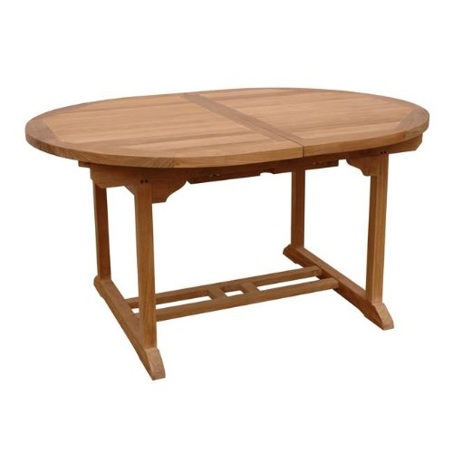 "Bahama 71"" Oval Extension Table Extra Thick Wood By Anderson Teak"