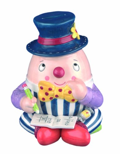 Belleek UNIV25029 Humpty Dumpty Figure Money Box, 6.3-Inch, Multicolor