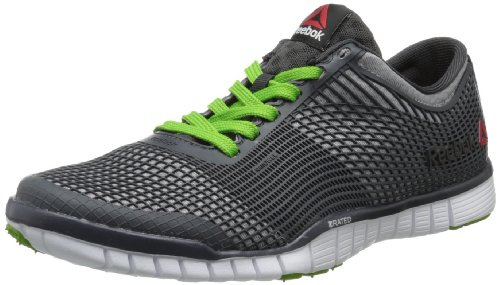Reebok Men's ZQuick Training Shoe,Tin Grey/Graphite/Gravel/Green Smash/White,10 M US