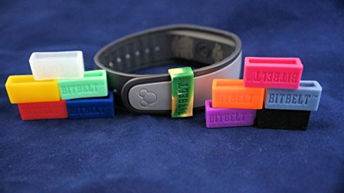 Bitbelt 12 pack (one of every color, 3 that glow in the dark!) Protect your Fitbit Charge, Fitbit Charge HR, Garmin Vivofit, or Disney MagicBand with Bitbelt. We invented the secondary safety clasp, works like vivokeeper. (Bit Belts compare prices)