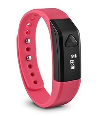 Ematic Ematic TrackBand Wireless Activity & Sleep Tracker - Wearable Tech - Retail Packaging - Pink