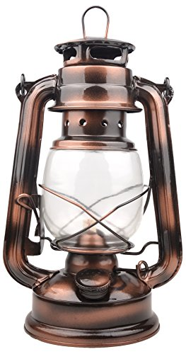 Farmer`s Vintage Barn Oil Lantern Iron Kerosene Lamp Emergency Light (Copper Color)