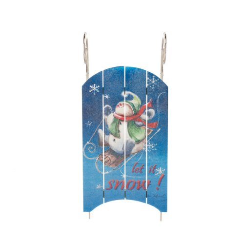 "23.5″ Classical Hand-Painted ""Let It Snow"" Wall"