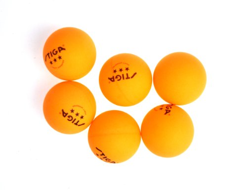 754806125596 STIGA 3-Star Table Tennis Balls, (6-Pack)
