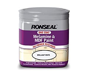 Ronseal one coat melamine and mdf paint brilliant white for One coat white paint