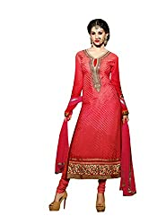 Amyra Women's Brasso Dress Material (AC752-05, Pink)