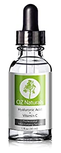 OZ Naturals - THE BEST Hyaluronic Acid Serum For Skin - Clinical Strength Anti Aging Serum - Best Anti Wrinkle Serum With Vitamin C + Vitamin E - Our Customers Call It A Facelift In A Bottle. This Vegan Hyaluronic Acid Serum Will Plump & Hydrate Dull Skin As It's Designed To Fill Those Fine Lines & Wrinkles. Satisfaction 100% GUARANTEED