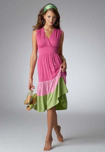 Colorblock Dress Bright Chunks Color