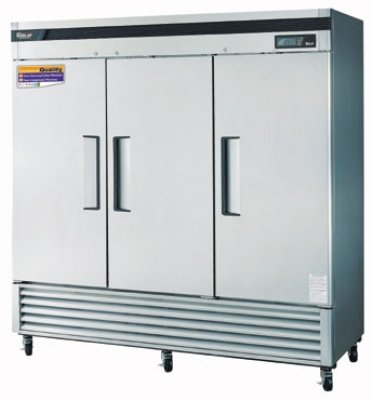"""Turbo Air Tsr-72Sd 81"""" Three Section Reach-In Refrigerator, (3) Glass Door, 115V, Each front-617659"""