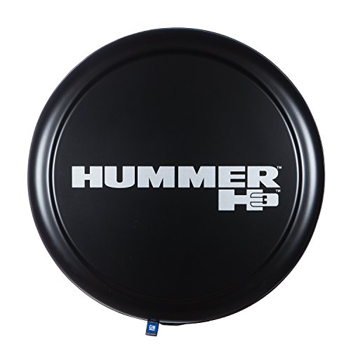 "32"" Rigid Tire Cover - (Hard Plastic Face & Fabric Vinyl Band) - Hummer H3 Logo"