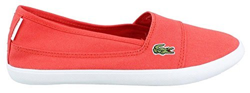 Lacoste Women's Marice LCR Fashion Sneaker (6.5, Red)