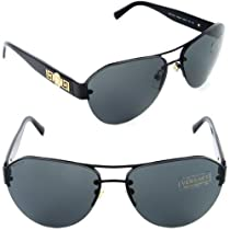 e408be31c852 Best Buy VERSACE Sunglasses VE 2143 1009 87 Black   - Versace sale list