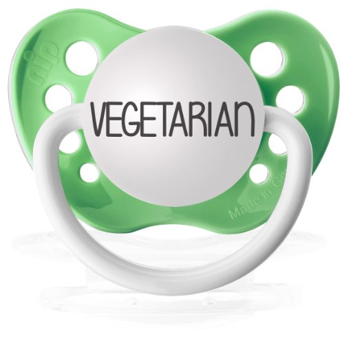 Personalized Pacifiers Vegetarian in Green - 1