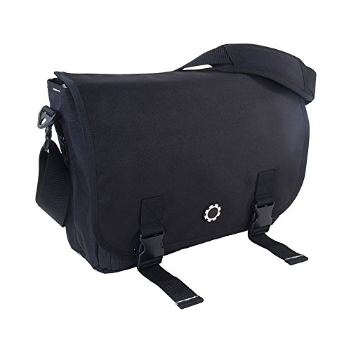 DadGear Messenger Diaper Bag - Solid Black