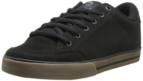 C1RCA Men's AL50 Skate Shoe, Black/Gum, 9.5 M US