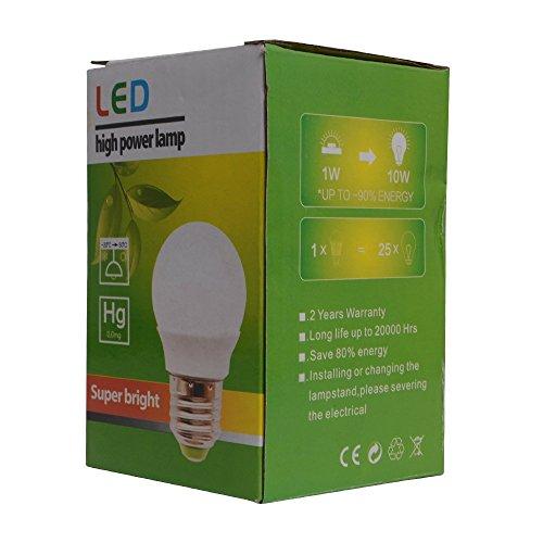 Excellent 9W Non Dimmable E26 LED Bulb Globe Bulb for Pendant Bath Dressing Room Decorative Lighting (Warm White) Bub Bath