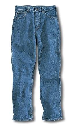 "Carhartt 34"" Inseam Traditional Fit Straight Leg Jeans, STONEWASH, 32"