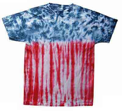 Tie Dye FLAG Swirl Retro Vintage Groovy USA Patriotic Youth Kids Tee Shirt T-Shirt