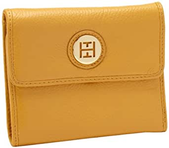 Tommy Hilfiger Charm Plaque French Pebble Wallet,Gold,One Size