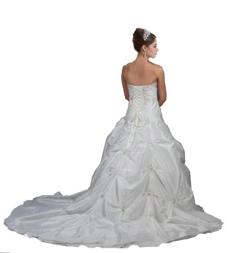 a6003c8875 ... Faironly M58 White Ivory Wedding Dress Bride Gown (L, ...
