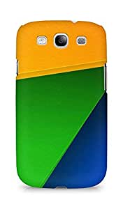 Amez designer printed 3d premium high quality back case cover for Samsung Galaxy S3 i9300 (Geometry Color Block)