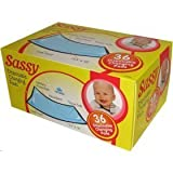 Sassy Baby Changing Pads 36 Count Box, White